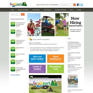 Fargo Park District - Homepage