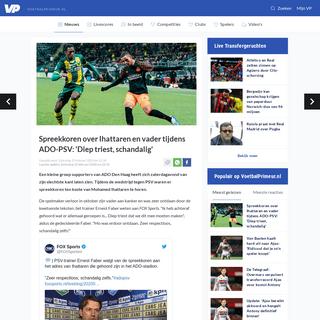 Spreekkoren over Ihattaren en vader tijdens ADO-PSV- 'Diep triest, schandalig' - Voetbalprimeur