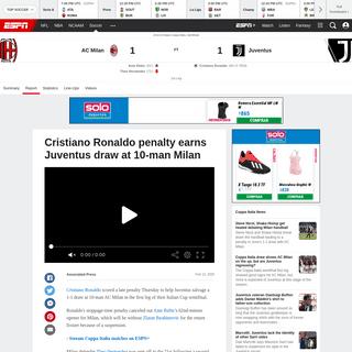 AC Milan vs. Juventus - Football Match Report - February 13, 2020 - ESPN