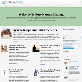 Pure Natural Healing - Your Guide To Complementary And Alternative Medicine