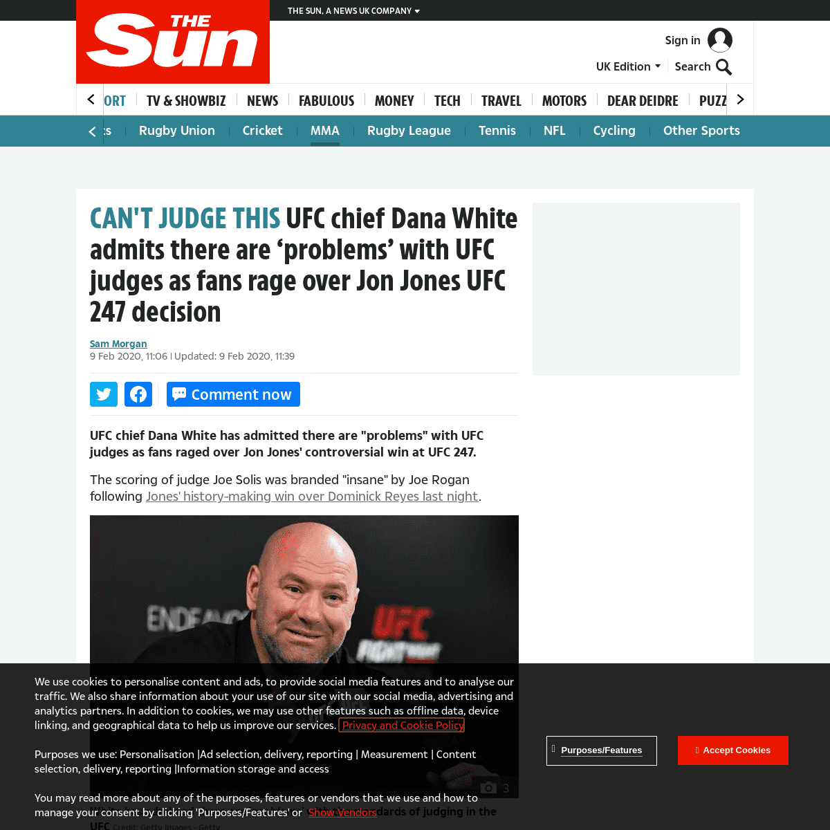 UFC chief Dana White admits there are 'problems' with UFC judges as fans rage over Jon Jones UFC 247 decision – The Sun