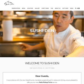Sushi Den - Sushi & Japanese Restaurant
