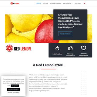 ArchiveBay.com - redlemon.hu - Red Lemon Media - Magyarország vezető PR ügynöksége