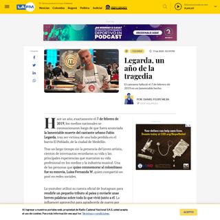 Legarda- un año de haber muerto en fatal accidente asociado a fleteo - La FM