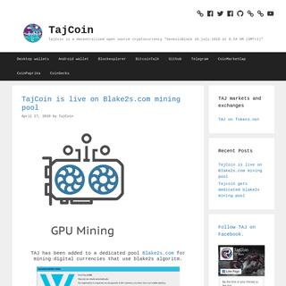 TajCoin – TajCoin is a decentralized open source cryptocurrency -GenesisBlock 10.july.2016 at 8-34 AM (GMT+1)-