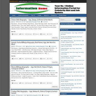 BioNetworth – Celebrity Biography , Life History, Profiles, Job Vacancies And Top 10's