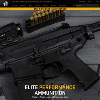 SIG SAUER - Firearms • Ammunition • Electro-Optics • Suppressors • Airguns • Training