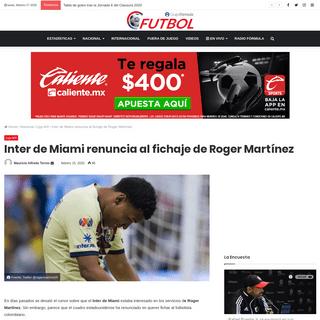 Inter de Miami renuncia al fichaje de Roger Martínez - Futbol RF