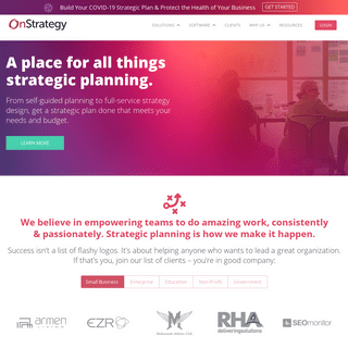 Strategy Development & Execution Software - OnStrategy