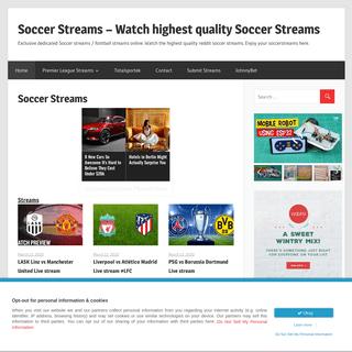 Soccer Streams - Watch highest quality Soccer Streams