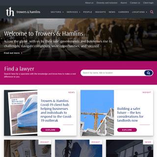 Trowers & Hamlins - International law firm -Trowers & Hamlins
