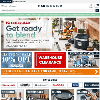 UK Cookshop & Kitchenware Shop - Country Department Store - Harts of Stur