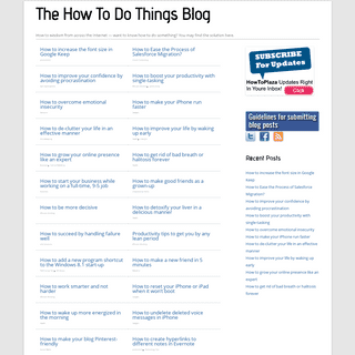 The How to Do Things – Wisdom from the Internet and within