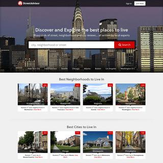 StreetAdvisor - Best Cities to Live in, Best Neighborhoods and Streets
