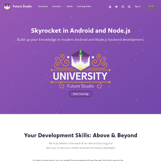 Future Studio — Skyrocket in Android and Node.js