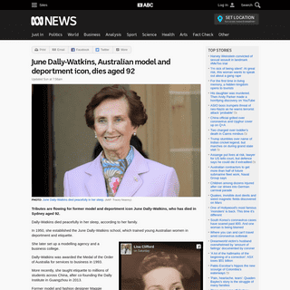 June Dally-Watkins, Australian model and deportment icon, dies aged 92 - ABC News (Australian Broadcasting Corporation)