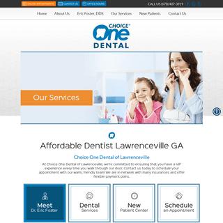 Dentist Lawrenceville GA - Choice One Dental of Lawrenceville
