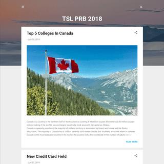 TSL PRB 2018
