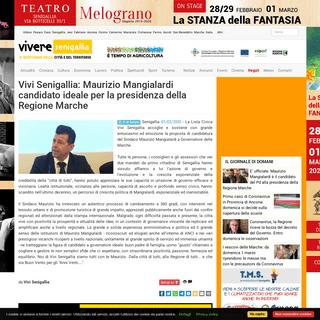 Vivi Senigallia- Maurizio Mangialardi candidato ideale per la presidenza della Regione Marche