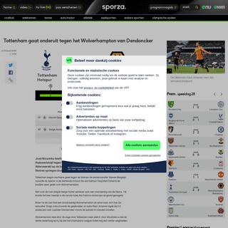 Tottenham gaat onderuit tegen het Wolverhampton van Dendoncker - Premier League 2019-2020 - sporza