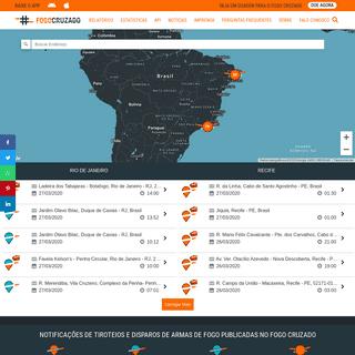 Fogo Cruzado – O Fogo Cruzado é uma plataforma digital colaborativa que tem o objetivo de registrar a incidência de tiroteio