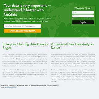 GoStats — Intuitive Big Data Analytics