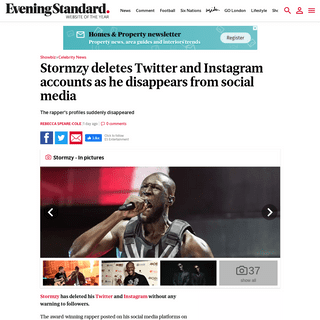 ArchiveBay.com - www.standard.co.uk/showbiz/celebrity-news/stormzy-deletes-twitter-instagram-a4367816.html - Stormzy deletes Twitter and Instagram accounts as he disappears from social media - London Evening Standard