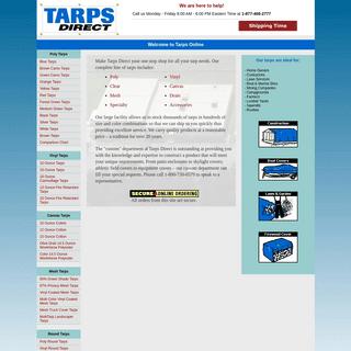Tarps Online - Poly, Vinyl, Canvas, Mesh Tarps