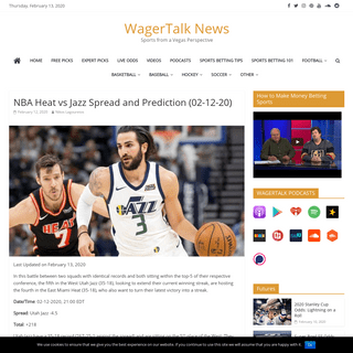 NBA Heat vs Jazz Spread and Prediction - WagerTalk News