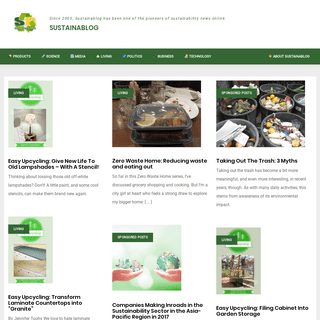 Sustainablog • Since 2003, Sustainablog has been one of the pioneers of sustainability news online.