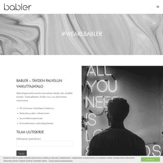 Babler – Vaikuttajamarkkinoinnin asiantuntijayritys