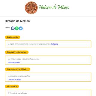 Historia de México - Historia-Mexico.info