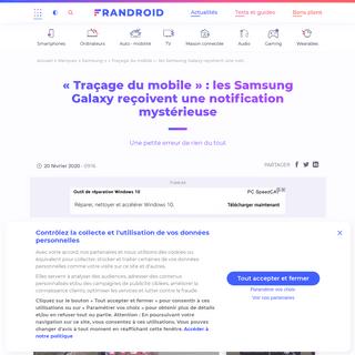 « Traçage du mobile » - les Samsung Galaxy reçoivent une notification mystérieuse - Frandroid