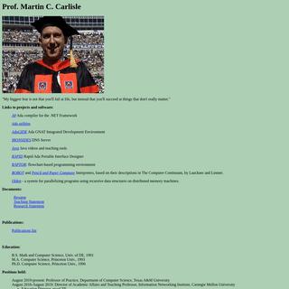 Martin Carlisle's Home Page