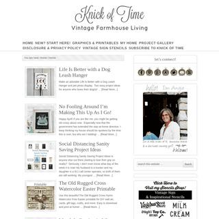 Knick of Time - Vintage Farmhouse Living Farmhouse Decor Blog