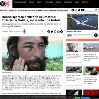 Hanno sparato a Vittorio Brumotti di Striscia La Notizia, ma è una bufala