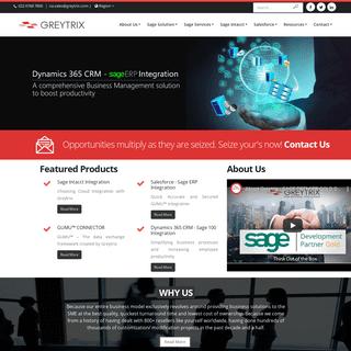 Greytrix - Sage X3 - Intacct - Sage CRM - Salesforce - Integration - Development