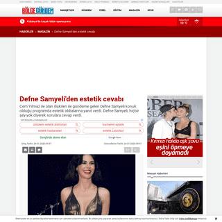 ArchiveBay.com - www.bolgegundem.com/defne-samyeliden-estetik-cevabi-1171218h.htm - Defne Samyeli'den estetik cevabı