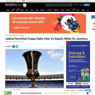 ArchiveBay.com - www.kompas.com/sport/read/2020/02/12/062000367/jadwal-semifinal-coppa-italia-inter-vs-napoli-milan-vs-juventus?page=all - Jadwal Semifinal Coppa Italia, Inter Vs Napoli, Milan Vs Juventus Halaman all - Kompas.com