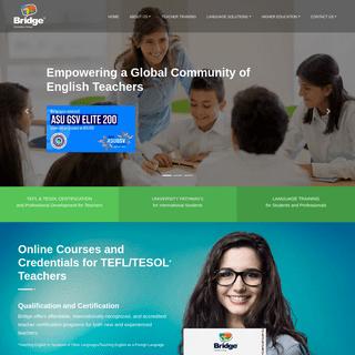 Bridge - Intensive ESL Programs, University Pathways, TEFL Certification