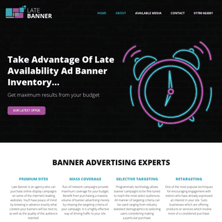 ArchiveBay.com - latebannerads.co.uk - Late Banner – Late Availability Banner Advertising