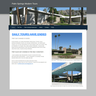 Palm Springs Modern Tours - Home