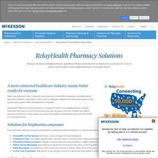 RelayHealth Pharmacy Solutions - McKesson