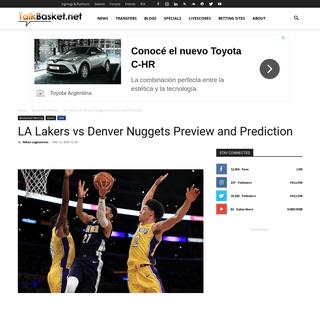 ArchiveBay.com - www.talkbasket.net/69407-la-lakers-vs-denver-nuggets-preview-and-prediction - LA Lakers vs Denver Nuggets Preview and Prediction - TalkBasket.net