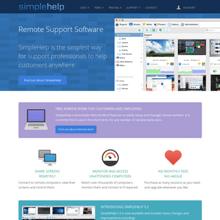 Remote Support Software by SimpleHelp - Home