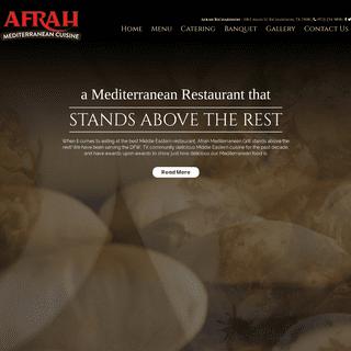 Afrah Mediterranean Restaurant Richardson