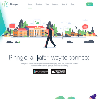 International voice call, group calling & video chat app - Pinngle Messenger
