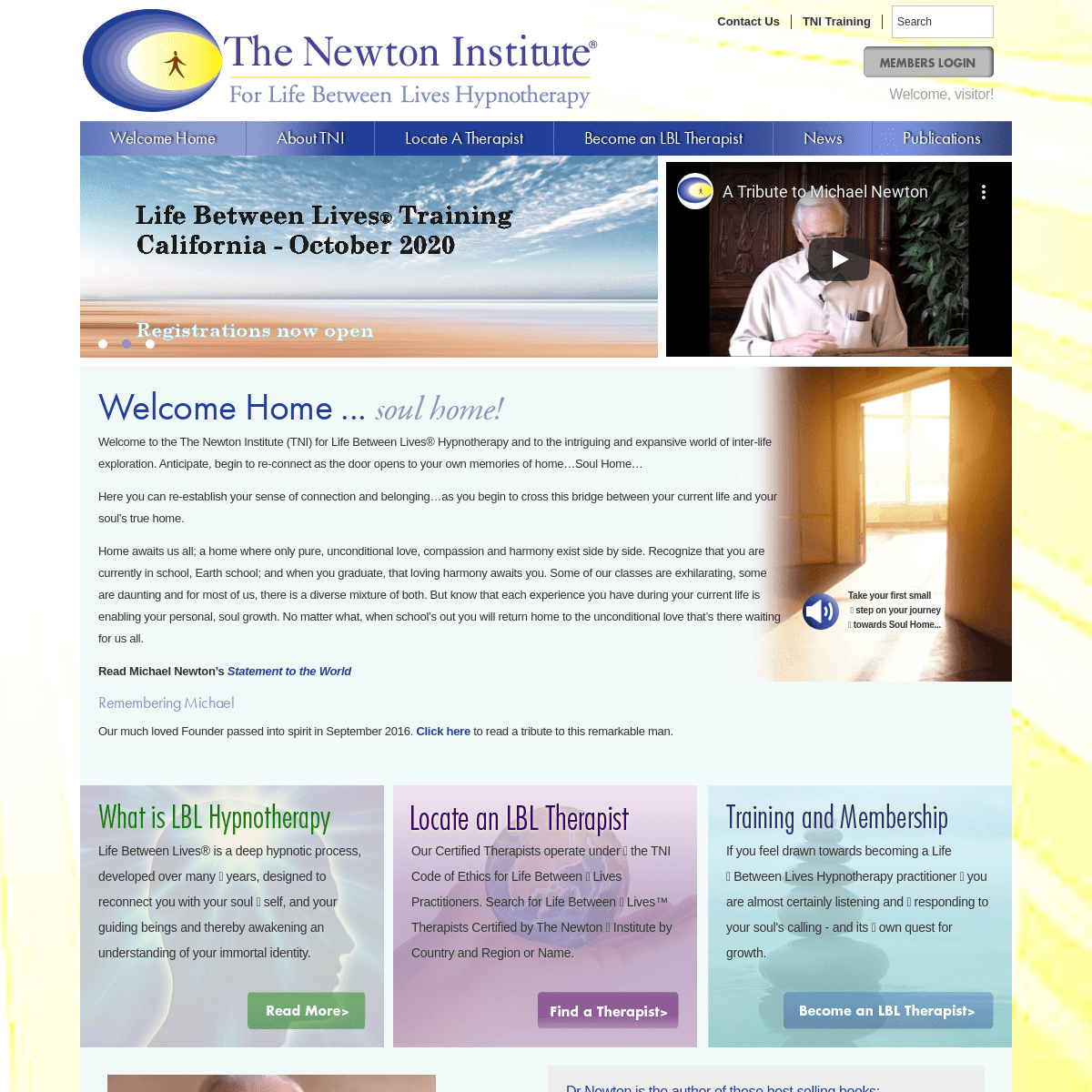 The Newton Institute for Life Between Lives Hypnotherapy