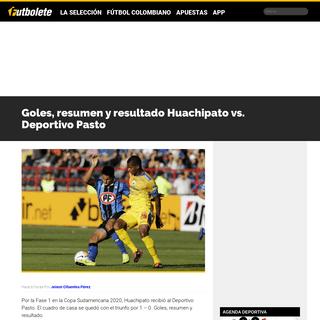 ArchiveBay.com - futbolete.com/futbol-colombiano/goles-resumen-y-resultado-huachipato-vs-deportivo-pasto/461814/ - Goles, resumen y resultado Huachipato vs. Deportivo Pasto - Futbolete.com