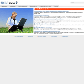 IRS Video Portal Home Page